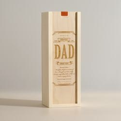 Gifts for Dad:Worlds Greatest Dad - Wine Box