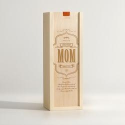 Unique Birthday Gifts for Mom:Worlds Greatest Mom - Wine Box