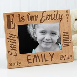 Personalized Gifts for 3 Year Old:Alphabet Name Personalized Kids Picture Frames