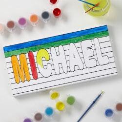 Personalized Kids DIY Canvas - Paint It! - 5..