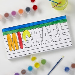 Gifts for Grandson:Personalized Kids DIY Canvas - Paint It! - 5..