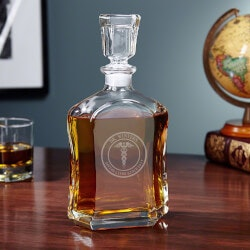 Medical Arts Personalized Liquor Decanter