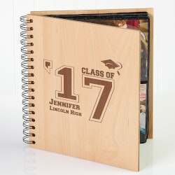 High School Graduation Gifts:Personalized Graduation Wooden Photo Album