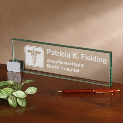 Gifts for Doctors:Personalized Desk Nameplate - Medical..