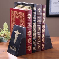 Personalized Medical Marble Bookends -..