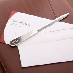 Stocking Stuffers:Personalized Monogram Silver Letter Opener