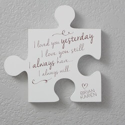 Personalized Gifts (Under $25):Personalized Romantic Wall Puzzle Pieces -..