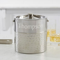 Personalized Gifts:Hampton Collection Personalized Ice Bucket