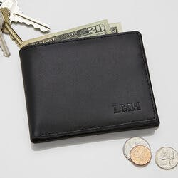 Personalized Leather Bi-Fold Wallet - Regent..