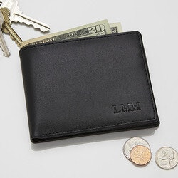 Birthday Gifts for Brother Under $50:Personalized Bi-Fold Wallet
