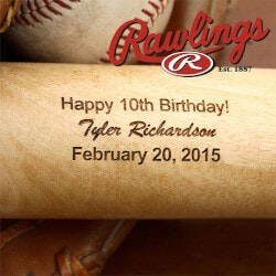 Personalized Gifts for Boys:Personalized Birthday Wooden Baseball Bat
