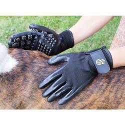 HandsOn Gloves: Grooved Pet Grooming Gloves
