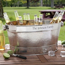 Gifts for Dad:Engraved Stainless Steel Outdoor Cooler Tub