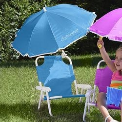 Personalized Kids Beach Chair & Umbrella Set..