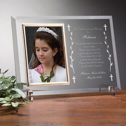 Gifts for Baby:Personalized First Communion Glass Picture..