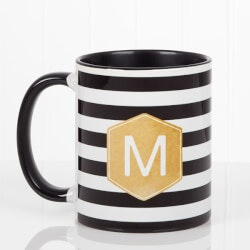Personalized Gifts (Under $10):Personalized Coffee Mug - Modern Stripe With..