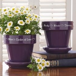 Christmas Gifts for Mom Under $50:Personalized Flower Pots