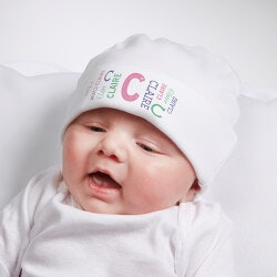 Personalized Gifts (Under $10):Personalized Repeating Name Baby Infant Hat