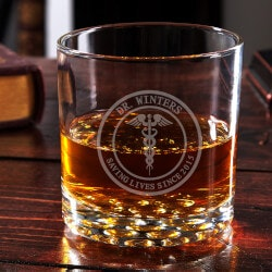 Gifts for Doctors:Medical Arts Engraved Buckman Whiskey Glass