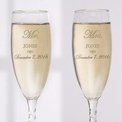 Personalized Crystal Wedding Champagne..