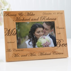 Romantic Gifts:Personalized Wedding Picture Frames - Mr And..