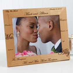 Personalized Wedding Photo Frames - Mr And..