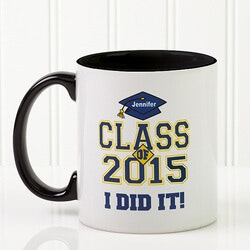 Custom Graduation Ceramic Coffee Mug -..
