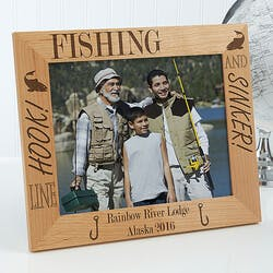 Personalized Fishing Custom Wood Picture..
