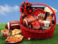 Football Fanatic Sports Gift Basket