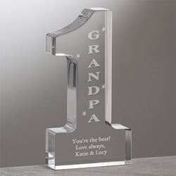 Number One Grandpa Engraved Sculpture