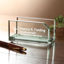 Gifts for Doctors:Personalized Business Card Holder - Medical..