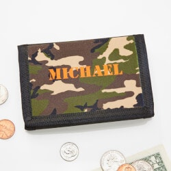 Personalized Gifts for Boys:Kids Camouflage Tri-Fold Wallet For Boys