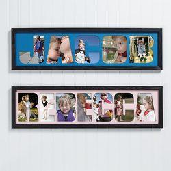 Photo Name Collage Frame