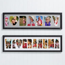 Gifts for Grandfather:Personalized Name Photo Collage Frame -..