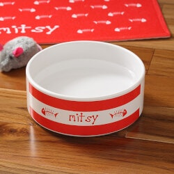 Personalized Gifts:Personalized Ceramic Pet Bowls - Kitty..