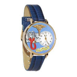 Nurse 2 Blue Watch In Gold (Large)