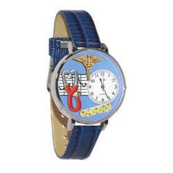 Nurse 2 Blue Watch In Silver (Large)