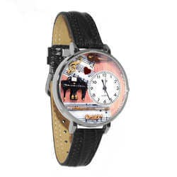 Music Teacher Watch In Silver (Large)
