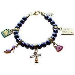 Stocking Stuffers for Grandmother:Shopper Mom Charm Bracelet In Gold