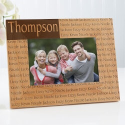 Personalized Christmas Gifts for Family:Family Name Personalized Wood Picture Frames..