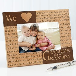 Grandparents Day Gifts:Engraved Names Personalized Picture Frames -..