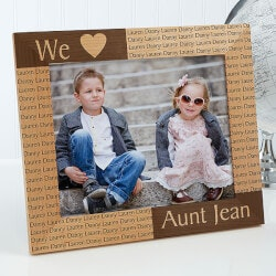 Gifts for Aunt:Personalized Picture Frames With Engraved..