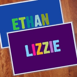 Personalized Gifts (Under $10):Personalized Kids Placemat - All Mine!