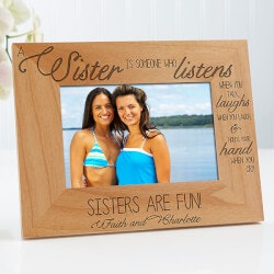 Personalized Gifts:Personalized Sister Picture Frames - 4x6