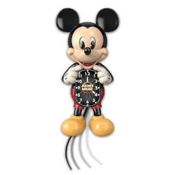 Gifts for GrandsonUnder $200:Mickey Mouse Motion Clock With Moving Eyes..
