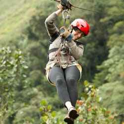 Unusual Birthday Gifts for Sister:Zip Lining Experiences