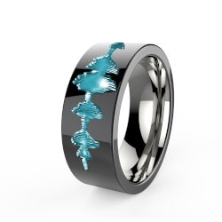 Personalized Fathers Day Gifts:Personalized Titanium Rings From Your Voice!