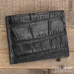 Christmas Gifts Under $100:Amish Crafted Black Alligator Skin Bifold..