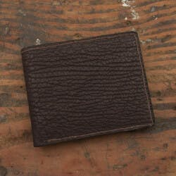 Amish Crafted Brown Shark Skin Bifold Wallet
