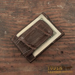 Gifts for 16 Year Old Teenage Boys:Alligator Skin Money Clip